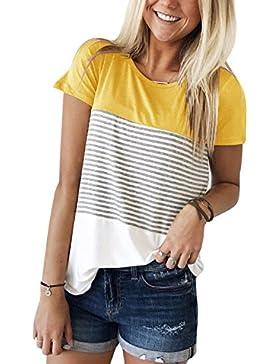 [Patrocinado]Luxspire Blusas Camiseta para Mujer, Camisa de Manga Corta de Rayas Casual en Oferta Suelto Tops Elegantes de...