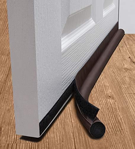 deeToolMan Zugluftstopper 91,4 cm: einseitig Tür Isolator Selbstklebende Klettverschluss/Dichtung passt zu Unterseite der Tür/Unter Tür Draft Blocker/Tür Wetter Leiste (braun) -