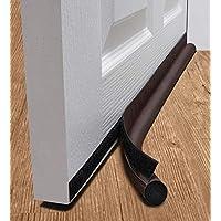 DeeToolMan Under Door Draft Stopper 91,4 cm: Un Lato Porta Isolante/autoadesive in Velcro Adatta alla Parte Inferiore della Porta/Under Door Draft Blocker/Paraspifferi (Marrone)