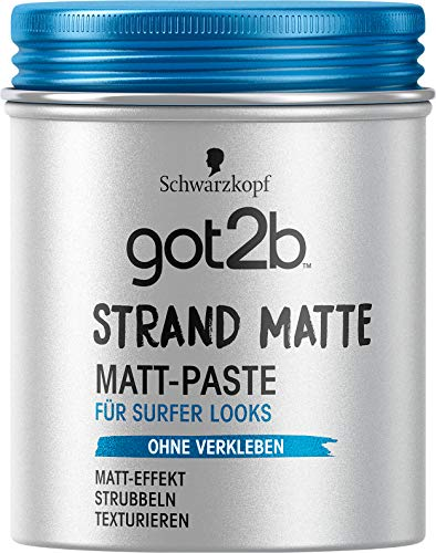 Schwarzkopf got2b strand matte Matt-Paste surfer look, 1er Pack (1 x 100 ml) -