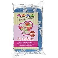 FunCakes mandelhaltige Zuckermasse Aqua Blue, 1er pack (1 x 250g)
