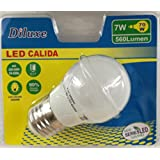 Pack 12 Bombillas LED G45, 7W,(equivalente a 70W), casquillo E27, 560 lumen, luz calida 3000K(no regulable) (7)