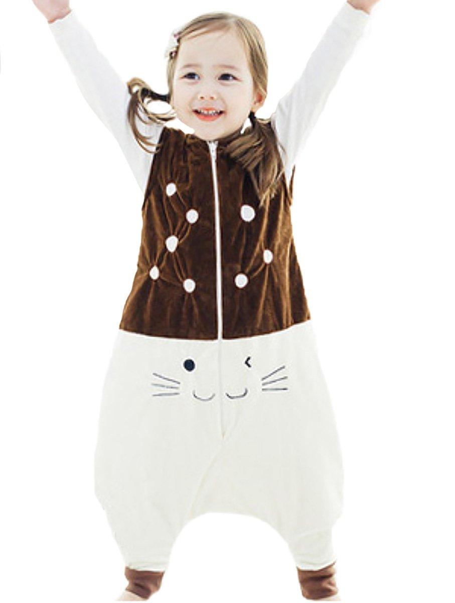 Happy Cherry – Saco de Dormir Infantil Mono del Algodón Franela Cremallera Pijama de Bebé Cartoon para Niños Niñas…