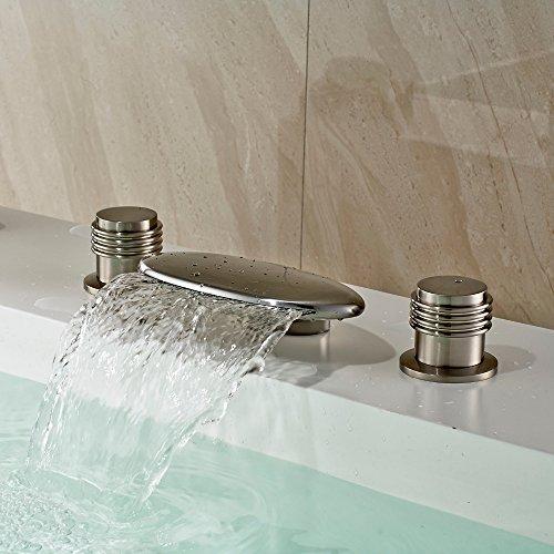 tougmoo cascata vasca da bagno Filler rubinetto nichel spazzolato rubinetto