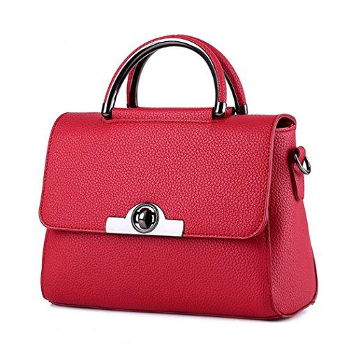 Borsa della borsa della borsa di Tote del sacchetto di spalla della nuova borsa delle donne Vino rosso