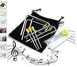 stargoods Musik Dreiecke mit Metall Schlägel + 3extra Sticks (Set von 3)