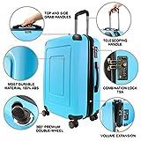 Happy Trolley - 3er Koffer-Set Trolley-Set Rollkoffer Hartschalen-Koffer Reisekoffer Lugano Sehr leicht, TSA, (S, M & L), Dunkelblau