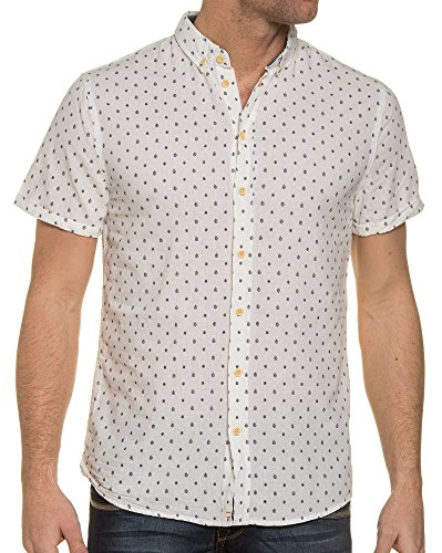 Blend - In der weißen Bluse mit aufgedrucktem Lin Weiß