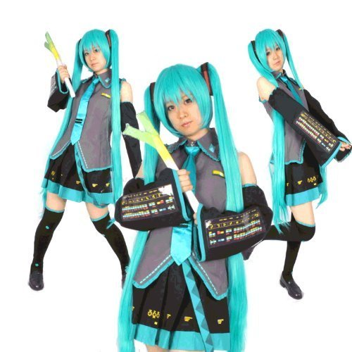 Miku Hatsune: VOCALOID - Cosplay Dress [Normal Dress Set] (Miku Cosplay Kostüm Uk Hatsune)
