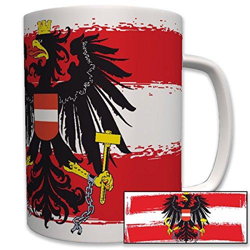Republik Österreich Fahne Flagge Adler- Tasse Becher Kaffee #5989 Adler-kaffee-tasse