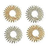 PIXNOR Massage Ring Medizin-Akupressur-Massage-Ringe-Set 4 (Silber + Golden)