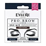Best Brow Kits - Eylure DYBROW Eyebrow Dye Kit, Dark Brown Review