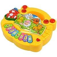 Amitasha Baby Farm Animal Piano Real Sound LED Flash Toy ( Design & Color As per Availability )