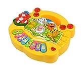 #4: Amitasha Baby Farm Animal Piano with Real Animal Sound, Piano Sound ,LED Flash Light ( Design & Color As per Availability )