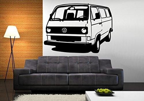 Adhesivo para pared VW-Bus T3, vinilo, negro, medium