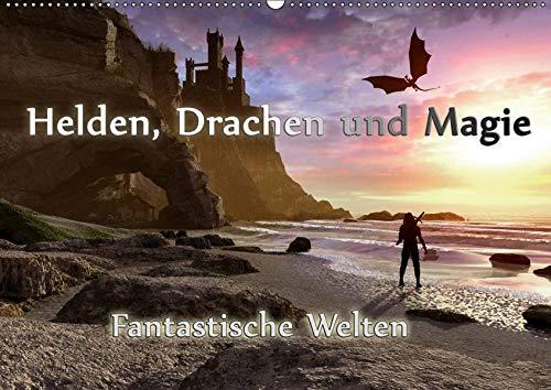 Helden, Drachen und Magie (Wandkalender 2019 DIN A2 quer): 12 wundervolle Fantasybilder, die sie durch das Jahr begleiten. (Monatskalender, 14 Seiten ) (CALVENDO Kunst)