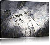 Düsteres Gras vorm Regen Deluxe Format: 120x80 cm auf Leinwand, XXL riesige Bilder fertig gerahmt mit Keilrahmen, Kunstdruck auf Wandbild mit Rahmen, günstiger als Gemälde oder Ölbild, kein Poster oder Plakat