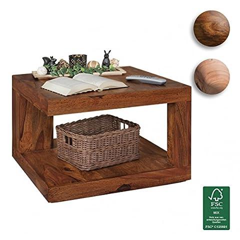 FineBuy Couchtisch Massivholz Sheesham Palisander   Design Wohnzimmertisch 58 x