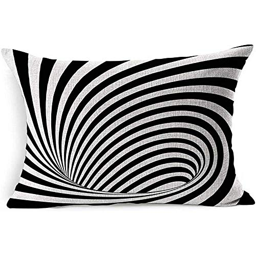 Dekokissenbezug Gray Pattern Op Test Bekannte optische abstrakte Form Schwarz Weiß Geometrisch Join Instrument Tunnel Endless Dirty Pillowcase