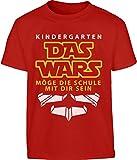 Geschenk zur Einschulung Kindergarten Das Wars Kleinkind Kinder T-Shirt - Gr. 86-116 6T Rot