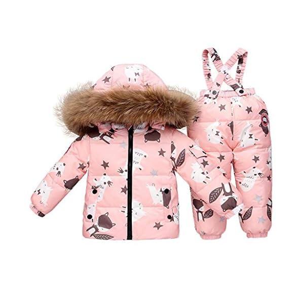 TYYM ski suit Traje De Bebé para La Nieve, Chaqueta con Capucha Monos De Una Pieza por 1-3 años Black-100cm 4