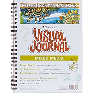 Strathmore Visual Journal Mixed Media Vellum 9-inch x 12-inch, 34 Sheets