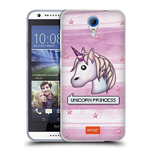 Offizielle Emoji Unicorn Princess Dreistigkeit Pastell Soft Gel Hülle für HTC Desire 620 / 620 Dual Sim