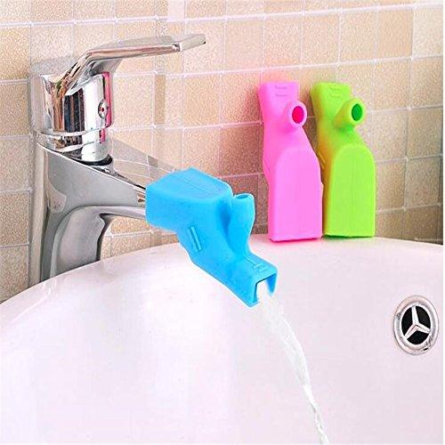 Doppelt Zweck Hohe elastische Silikon Gel Wasser Verlängerung für Wasserhahn Zahn Bürsten und Wasser waschen Spüle für Waschen Gerät - blau (Zweck Waschen)