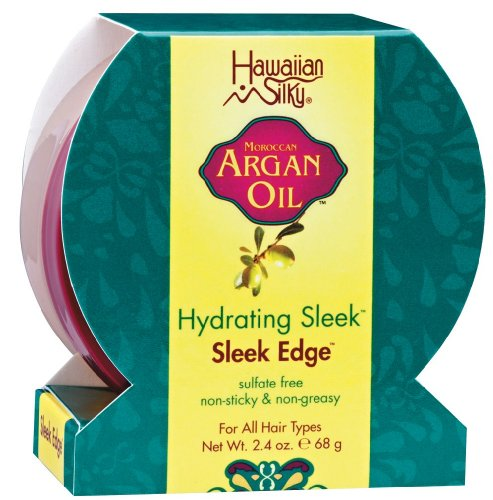 Hawaiian Silky Moroccan Argan Oil Hydrating Sleek Sleek Edge, 68g