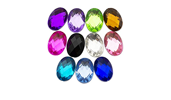 Summer-Ray Oval Rhinestones 18mm x 13mm Assorted Color 150pcs Rhinestones Value Pack