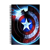 #10: Captain America Wirebound Ruled Paper Sheets Personal and Office Stationary Notebooks Diary