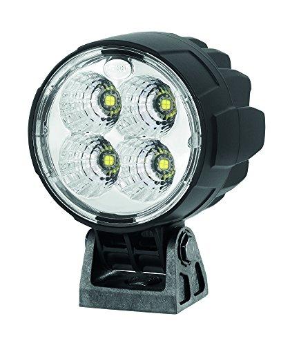 HELLA 1G0 996 263-051 LED Arbeitsscheinwerfer für stehenden Anbau, Schwenkfuss, mattschwarz, Multivolt 12V -24V