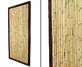 """Bambuszaun """"KohSamui Klassik"""" 180x90cm, dunkler Rahmen mit Bambusrohr Füllung - Sichtschutzwand Sichtschutzelement Sichtschutz Gartenzaun Zaunelement Sichtschutzwände Gartenzäune"""