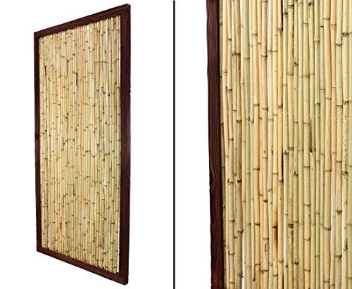 bambus-discount.com Bambuszaun KohSamui Klassik 180x90cm, dunkler Rahmen mit Bambusrohr Füllung Sichtschutzwand Sichtschutzelement Sichtschutz Gartenzaun Zaunelement Sichtschutzwände Gartenzäune
