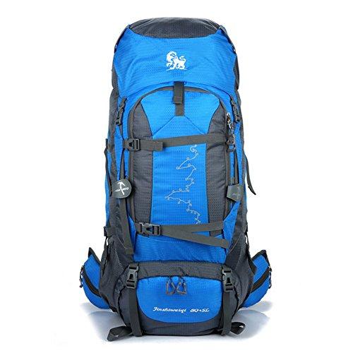 80L Profesional Que Sube La Mochila Bolso De Escalada Al Aire Libre De Gran Capacidad Que Acampa Que Camina El Bolso,Blue
