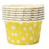 TOOGOO(R) Gelb Wave-Punkt Cupcake Muffinform Papierforrmchen Hochtemperaturbestaendig 100Stueck