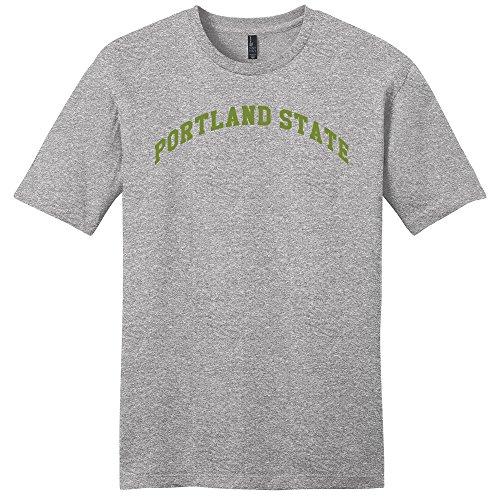 Campus Merchandise NCAA Unisex NCAA Portland State Arch Soft Style T-Shirt, Unisex, Light Heather Grey, Medium