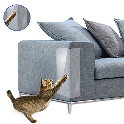 Alextry 4 STK. Katze Anti-Kratzer Klebeband Abschreckungsmittel Möbel Sofa Kratzer Schutz Schoner Klebeband - 30cmx45cm (Klebeband Katze)