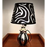 Tied Ribbons Designer Bedside Table Lamp For Office Bedroom Home Décor Living Room (Midnight Flow, 35cm X 20cm)