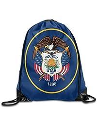 Preisvergleich für Vilico Utah State Flag Cute Gym Kordelzug Tasche Reiserucksack Tote Schulrucksack
