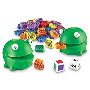 Learning Resources Resources-LER5072 Juego para desarrollar Las Habilidades motoras Finas Froggy Feeding Fun, Color Verde, Multi (LER5072)