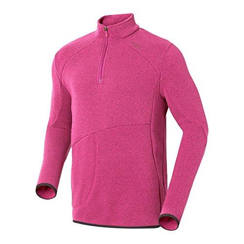 Odlo Damen Midlayer 1/2 Zip Stretch Fleece Pullover, Magenta, XXL Damen Stretch Fleece Pullover