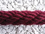 Handlaufseil/Absperrseil bordeaux-rot aus 100% Polyacryl 30mm