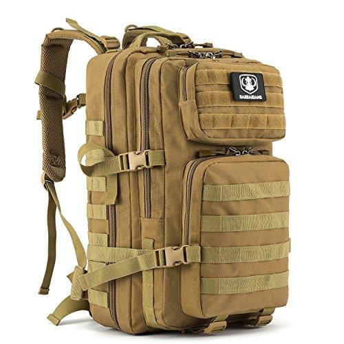 Gonex 35L taktischer Rucksack, Barbarians Molle Tasche Militärischer Assault Rucksack für Outdoor Wandern Camping (Khaki)