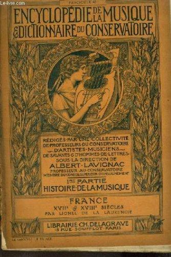 ENCYCLOPEDIE DE LA MUSIQUE & DICTIONNAIRE DU C...