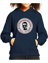 Arnold Schwarzenegger All Star Converse Logo Kid's Hooded Sweatshirt