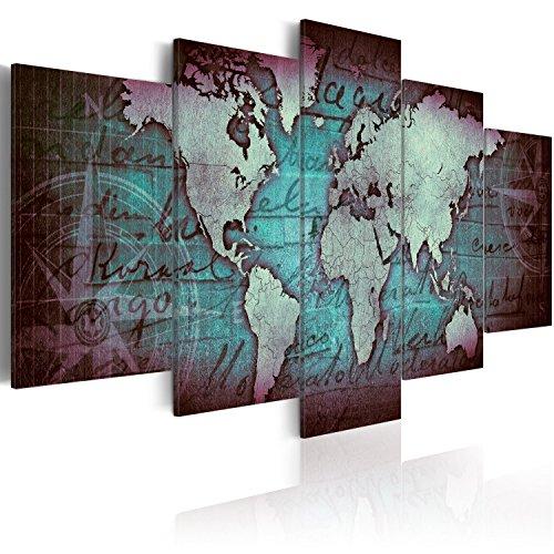 murando - Acrylglasbild Weltkarte 200x100 cm - 5 Teilig - Bilder Wandbild - modern - Decoration k-A-0062-k-o