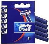 Gillette Blue II - Maquinillas de afeitar desechables - 5 unidades