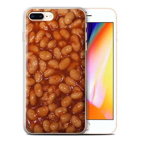 Stuff4 Gel TPU Hülle / Case für Apple iPhone 8 Plus / Pack 10pcs / Lebensmittel Kollektion Gebackene Bohnen
