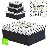 Juego 3 cajas regalo diseño frases 'TE MERECES '